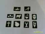 10 - 100  x  Easter / Spring themed stencils great for etching on glass  gift hobby      bunny   cross   egg